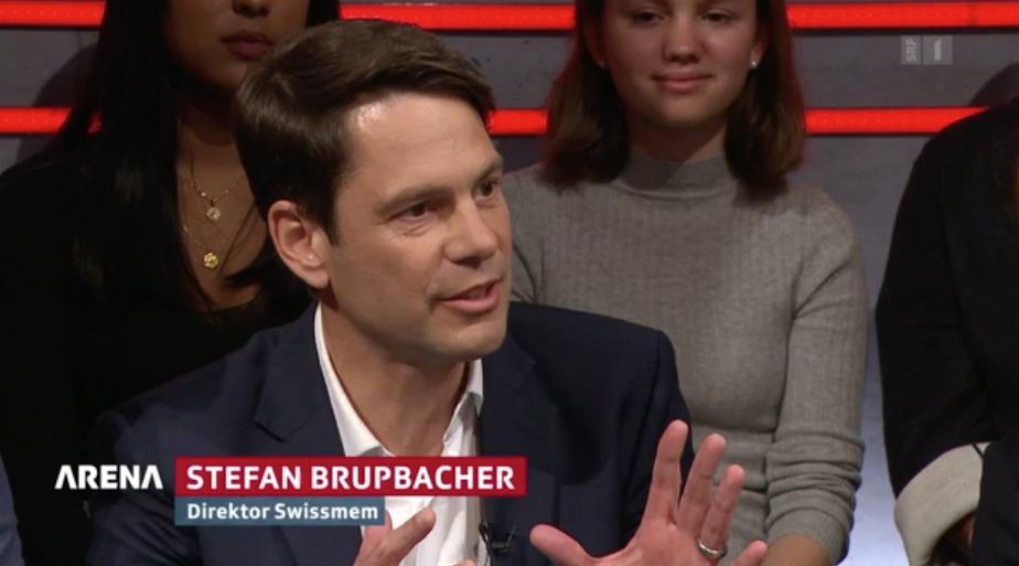 Stefan Brupbacher war vergangenen Freitag (26.04.2019) in der SRF-Arena zum Thema STAF zu Gast.